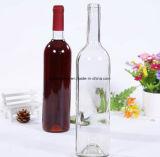 Runde Glaskolben-Wein-Flasche mit Kronen-Schutzkappe