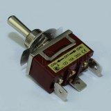 3-Way de PCB en off en el muelle de retorno el interruptor de palanca (KN3C-123P)