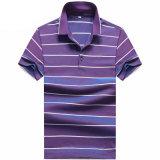 Faixa de lazer do homem elegante camisa de manga curta Casual camisa Polo