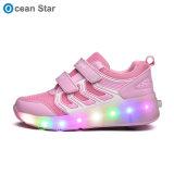 Rolete de moda Calçado de desporto Heelys Sapatos com luz de LED