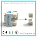 Verbinder Trapezfehlerder jack-RJ45 Ethernet-Baugruppen-Netz-Koppler-Locher-unten Adapter-kompatibler Katze-5e