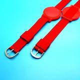 13.56MHz Silcone Ntag213 Smart Tag Bracelete Velcro da Pulseira de RFID