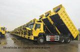 Autocarro con cassone ribaltabile di sollevamento centrale di Sinotruk 6X4 HOWO