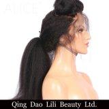 リリーの美のねじれたまっすぐなGluelessの完全なレースの人間の毛髪のかつらは前に130の密度8-24のインチのRemyの毛のブラジルのかつらによって漂白された結び目を摘み取った