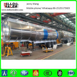 Tri acoplado de aluminio del petrolero del combustible del gasoil del árbol 40000L