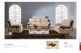 Sofá de la sala de estar con el sofá moderno del cuero genuino fijado (418)