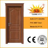 現代デザイン木の王冠PVCドア、MDFのボードのドア(SC-P175)