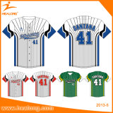 Sublimation Youth Sports Club Uniformes Maillots de baseball Chemises