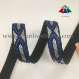 28mm Colorized High Tenacity Polyester Jacquard Webbing para sapatos