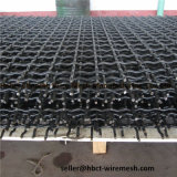Treillis métallique tissé serti par crochet de carbone de Hight Uesd dans des concasseurs de pierres vibrants