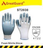 La mousse nitrile gant de travail de la sécurité pour le jardinage utiliser