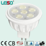 12VAC Dimmable 표준 크기 580lm 80ra MR16 LED 램프