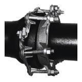 Дуктильная струбцина ремонта утечки соединения колокола утюга