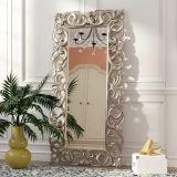 Salon de Luxe d'utilisation et miroir de PU décoratifs avec le châssis