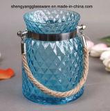 Vaso di vetro portatile di colore del vaso della candela