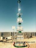 Conduite d'eau de fumage en verre de prix de gros avec le baril triple Percs