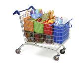 4PCS een Reeks van Kar 4 van de Kruidenierswinkel van Zakken Opnieuw te gebruiken het Winkelen van het Karretje van Kleuren Zakken