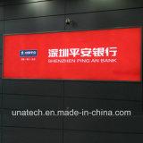 Для использования вне помещений для использования внутри помещений железнодорожной рекламы Настенный дисплей с подсветкой на пленку алюминия светодиодный индикатор .