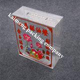 Volum paquete de plástico plegable de la caja de regalo empaquetado al por menor