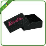 Boîte de cadeau noire avec le couvercle