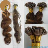 Do cabelo humano indiano do Virgin de 8# extensão lisa do cabelo da ponta Remy