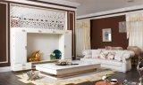 Jogo luxuoso do sofá do couro da sala de visitas do projeto italiano