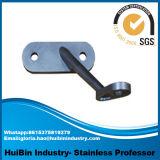 Corchete Polished de la barandilla de la mancha de óxido para el pasamano de cristal del acero inoxidable de la barandilla