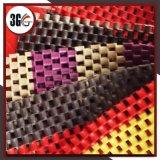 Double couvre-tapis de chaîne de couleur de PVC