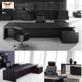 أسود حديثة [ل] شكل [إإكسكتيف وفّيس] طاولة مكتب ([ه-0898])