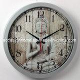 Orologio di parete circolare di plastica con il disegno di religione di Buddhism per la decorazione dell'ufficio del salone