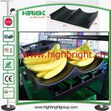 Acolchado plástico del estante de la bandeja del plátano para el estante de la fruta del supermercado