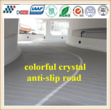 Colorir o revestimento antiderrapante de cristal da estrada com agregado de cristal colorido