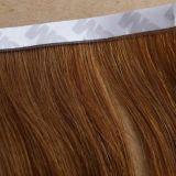 Плоские выдвижения волос ленты с волосами девственницы человеческих волос 100%