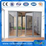 機密保護の熱壊れ目のアルミニウム開き窓のドアの二重ガラスのドアの表玄関のグリルデザイン