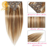 毛の拡張毛の100%年のバージンのRemyの人間の毛髪クリップのクリップ