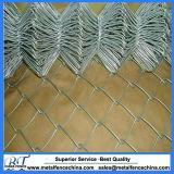 Clôture enduite et galvanisée de PVC de chaîne de maillon de tissu de garantie