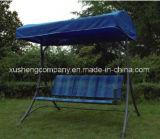 Silla de lujo del oscilación de los muebles del jardín de 3 asientos