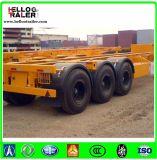 中国3の車軸40ton 40FT容器の骨組トレーラー