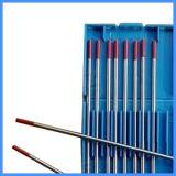 Electrodo del tungsteno de la alta calidad Wt20 con el color rojo el 2%