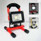 재충전용 Portable 10W LED 투광램프, 건축 빛