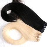 毛の拡張の100%のペルーのRemyの人間の毛髪クリップ