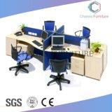Sitio de trabajo de madera moderno de la oficina de 4 personas (CAS-W1771531)