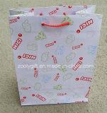 Os sacos Certificated Fsc do presente da compra do papel de impressão com personalizam o logotipo impresso
