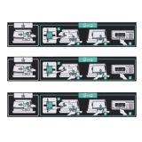 Etiqueta impresa en color de papel estucado/PP/PET autoadhesivo para el signo de la impresora de etiquetas: impresora