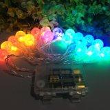 De batterij stelde Licht van het Veelkleurige 30 LEIDENE Koord van de Fee het Lichte in werking