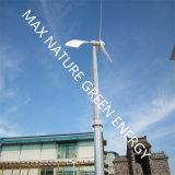 De kleine Turbine van de Wind samen met Zonnepanelen als Vernieuwbare Energie