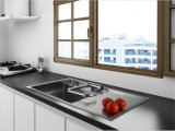 Robinet à levier unique de cuisine de pli de type chaud