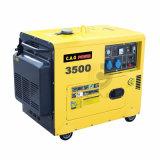 2500/2800/3000/3500 와트 1 실린더 방음 디젤 엔진 발전기