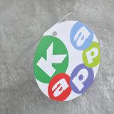 El papel impreso círculo colgar la ropa de etiqueta para/Bolso