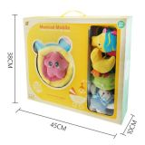 2015 Newest B/O Baby Bed Prodcuts Plush Bed Toys with Music and Light (10220296)